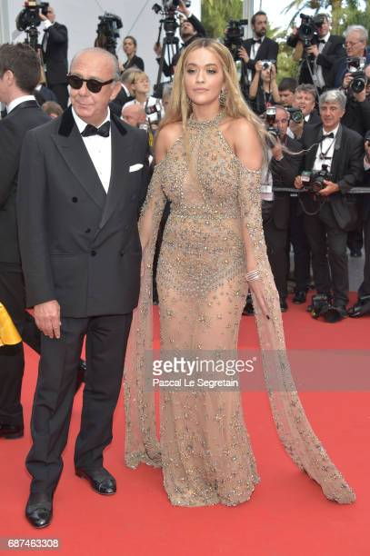 Fawaz Gruosi and Rita Ora attends the 70th Anniversary of the 70th annual Cannes Film Festival at Palais des Festivals on May 23 2017 in Cannes France
