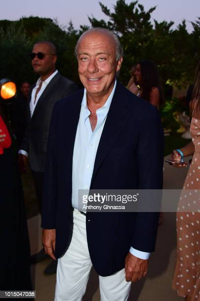 Fawaz Gruosi attends the Unicef Summer Gala Presented by Luisaviaroma cocktail party at Villa Violina on August 10 2018 in Porto Cervo Italy