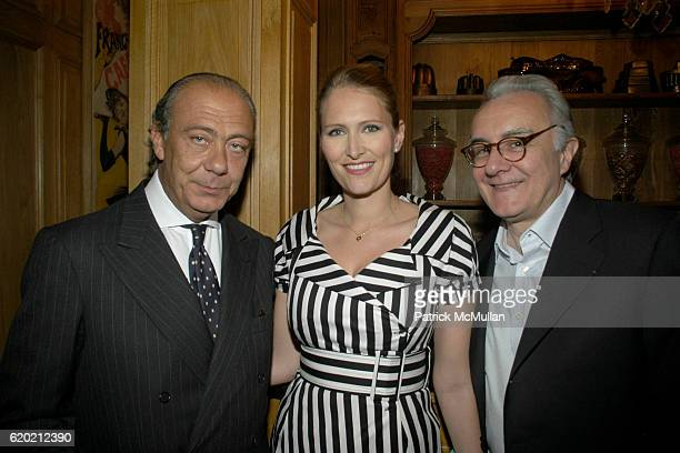 Fawaz Gruosi Gwenaelle Gueguen and Alain Ducasse attend Benoit Opening Party Hosted by Pamela Fiori and Alain Ducasse at Benoit Restaurant on April...
