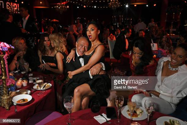 Fawaz Gruosi Nicole Scherzinger Winnie Harlow and Cindy Bruna attend the de Grisogono party during the 71st annual Cannes Film Festival at Villa des...