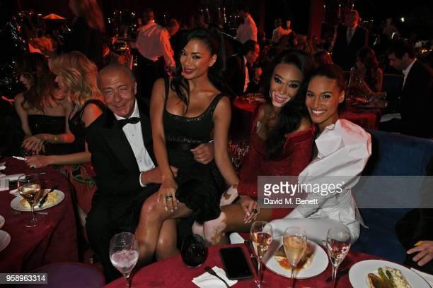 Fawaz Gruosi Nicole Scherzinger Winnie Harlow and Cindy Bruna attend the de Grisogono party during the 71st annual Cannes Film Festival at Villa des...