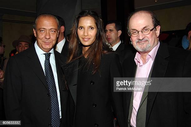 Fawaz Gruosi Padma LakshmiRushdie and Salman Rushdie attend Fawaz Gruosi of de GRISOGONO hosts a PreValentine's Cocktail Party at The de GRISOGONO...