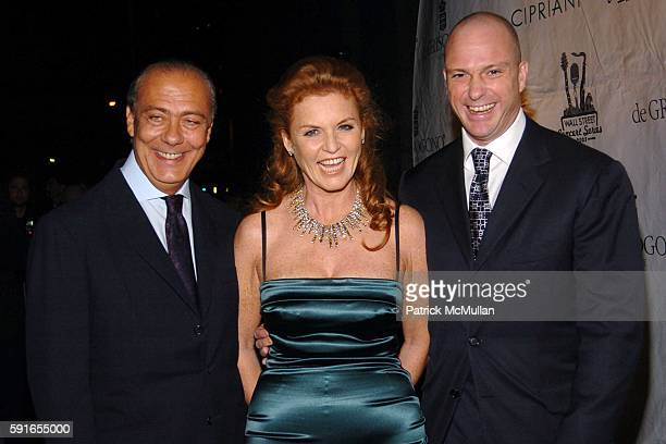 Fawaz Gruosi Sarah Ferguson and Giuseppe Cipriani attend de Grisogono Sponsors The 2005 Wall Street Concert Series Benefiting Wall Street Rising with...