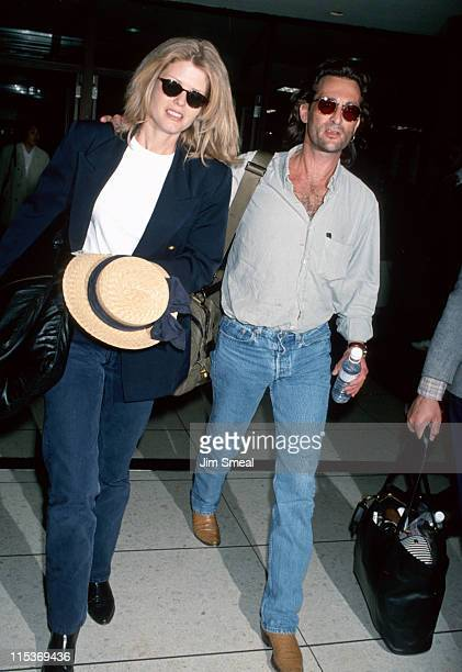 Fawn Hall and Danny Sugerman during Danny Sugerman and Fawn Hall Sighting at LAX April 20 1993 at Los Angeles International Airport in Los Angeles...