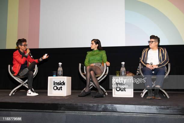 "Fawzia Mirza, Mishel Prada and Ser Anzoategui attend 2019 Inside Out LGBT Film Festival - Screening Of ""Vida"" at TIFF Bell Lightbox on May 29, 2019..."