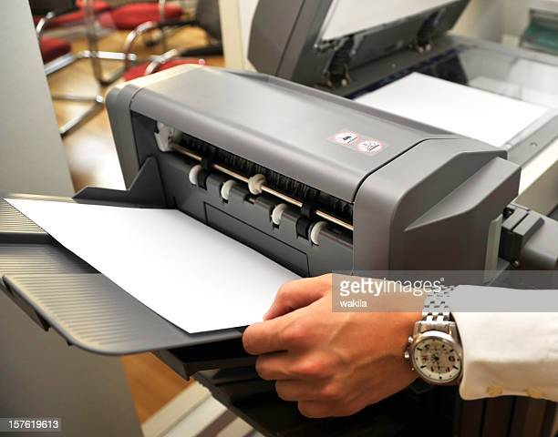 fax and printing machine in office