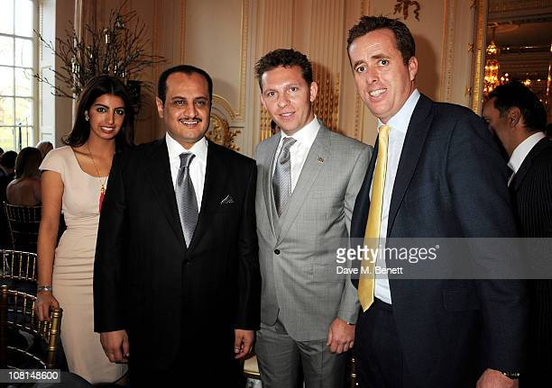 Fay Al Kharafi Loay Al Kharafi Nick Candy and Ned Baring attend the launch of One Hyde Park The Residences at Mandarin Oriental London on January 19...