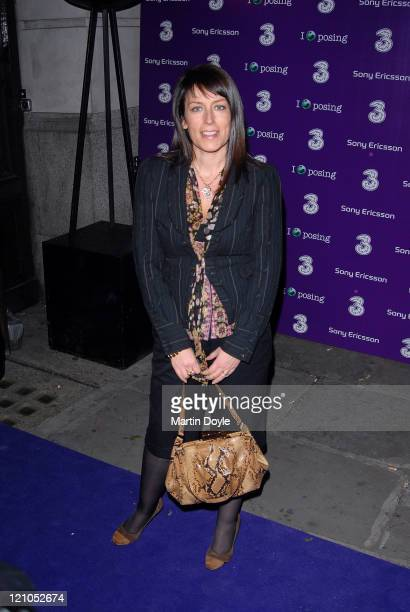Fay Ripley attends the 3 Sony Ericsson K770i phone phone launch at the Bloomsbury Ballroom October 24 2007 in London England