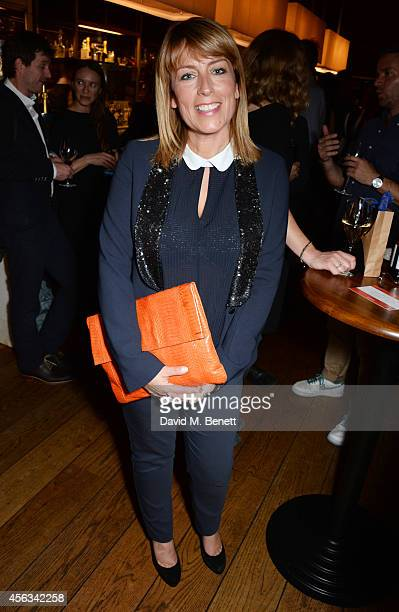 Fay Ripley attends the launch of new novel Us by David Nicholls in the Booking Office Bar Restaurant at the St Pancras Renaissance Hotel on September...