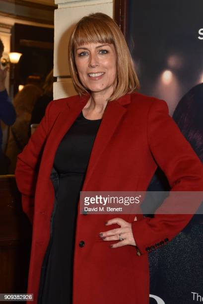 Fay Ripley attends the press night performance of Beginning at the Ambassadors Theatre on January 23 2018 in London England