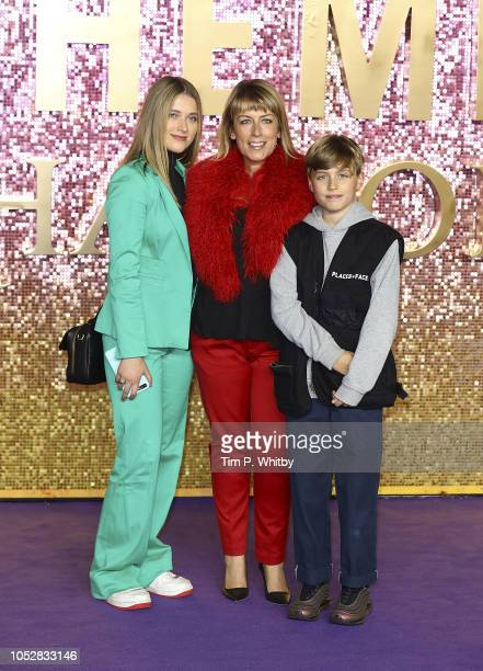 Fay Ripley with family attend the World Premiere of 'Bohemian Rhapsody' at The SSE Arena Wembley on October 23 2018 in London England
