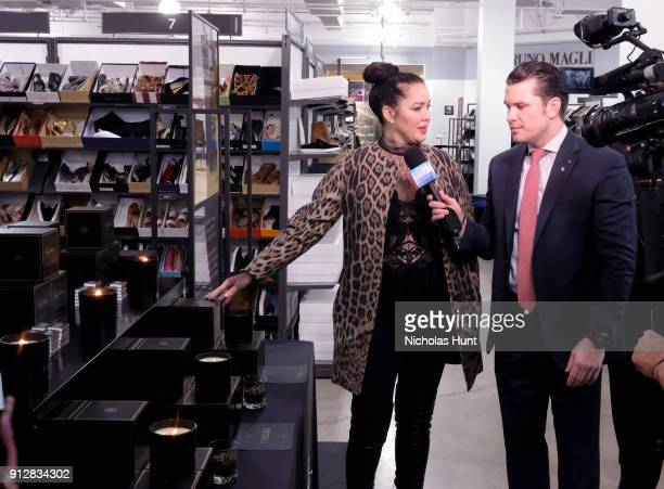 Fay Salgado and Pete Hegseth attend Giltcom's Big Game Celebration benefiting the Challenged Athletes Foundation at Saks OFF 5TH on January 31 2018...