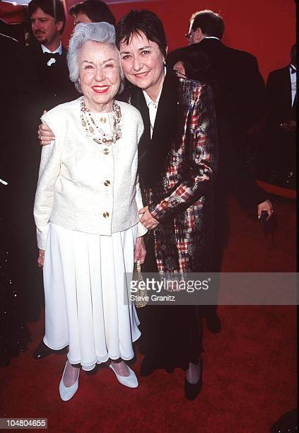 Fay Wray and guest during The 70th Annual Academy Awards Red Carpet at Shrine Auditorium in Los Angeles California United States