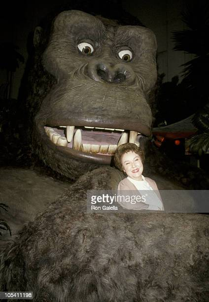 Fay Wray and King Kong during 50th Anniversary of King Kong at Mann's Chinese Theater in New York City New York United States