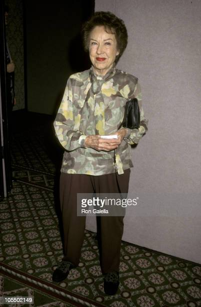 Fay Wray during 46th Annual New Dramatists Luncheon Honors Glenn Close at Marriott Marquis Hotel in New York City New York United States