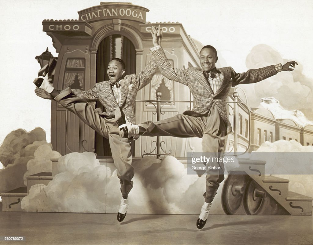 Fayard Nicholas and Harold Nicholas dancing in the 1941 film Sun Valley Serenade.