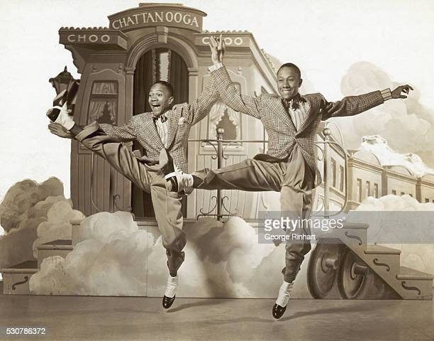 Fayard Nicholas and Harold Nicholas dancing in the 1941 film Sun Valley Serenade
