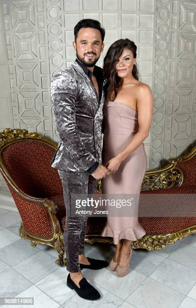 Faye Brookes and Gareth Gates attend the 2018 Diva Awards at The Waldorf Hilton Hotel on June 8, 2018 in London, England.