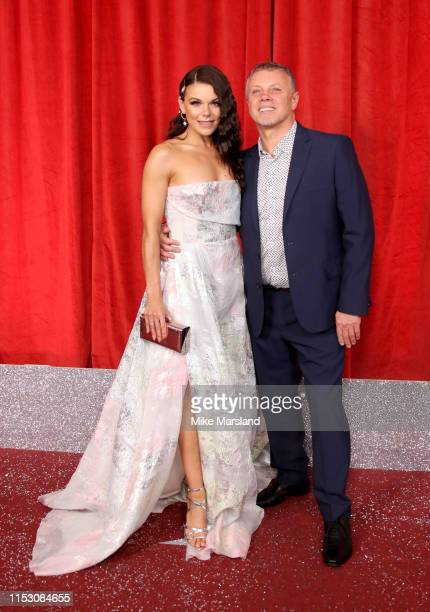Faye Brookes and guest attend the British Soap Awards at The Lowry Theatre on June 01 2019 in Manchester England