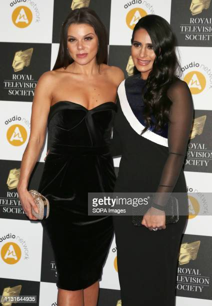 Faye Brookes and Sair Khan attend The Royal Television Society Programme Awards 2019 at the Grosvenor House Hotel in London