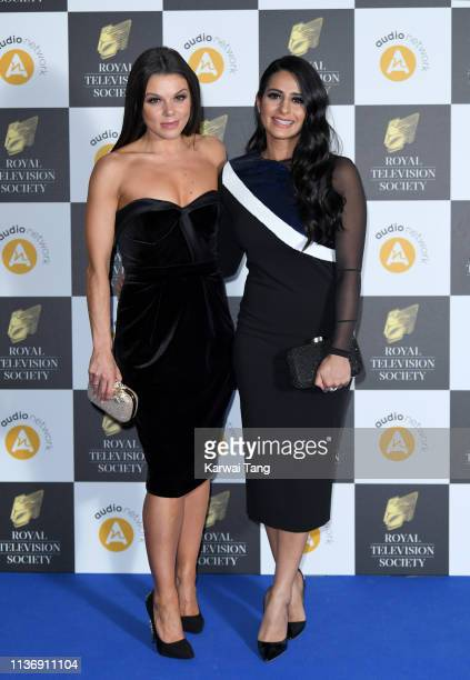 Faye Brookes and Sair Khan attend the Royal Television Society Programme Awards at Grosvenor House on March 19 2019 in London England