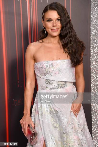 Faye Brookes attends the British Soap Awards at The Lowry Theatre on June 01 2019 in Manchester England