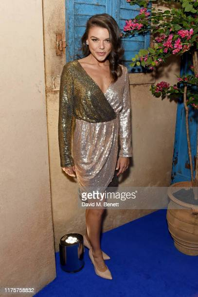 Faye Brookes attends the opening night of MAMMA MIA The Party at Building 6 at The O2 on September 19 2019 in London England