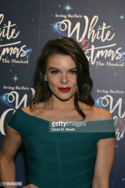 Faye Brookes attends the press night after party for White Christmas at The Mandrake Hotel on November 25 2019 in London England