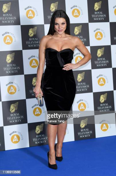 Faye Brookes attends the Royal Television Society Programme Awards at Grosvenor House on March 19 2019 in London England