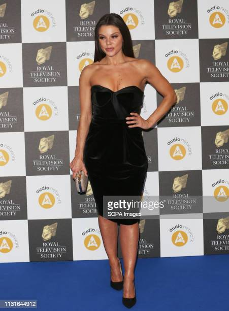 Faye Brookes attends The Royal Television Society Programme Awards 2019 at the Grosvenor House Hotel in London