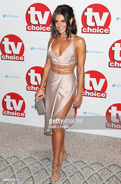 Faye Brooks arrives for the TVChoice Awards at The Dorchester on September 5 2016 in London England