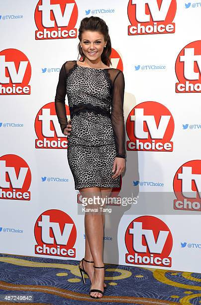 Faye Brooks attends the TV Choice Awards 2015 at Hilton Park Lane on September 7 2015 in London England