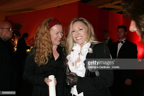Faye Dunaway and Andreas Arnold at the closing ceremony dinner of the 59th Cannes Film Festival
