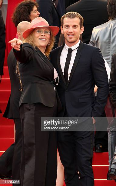 "Faye Dunaway and Liam O'Neill attend ""The Beaver"" Premiere during the 64th Cannes Film Festival at the Palais des Festivals on May 17, 2011 in..."