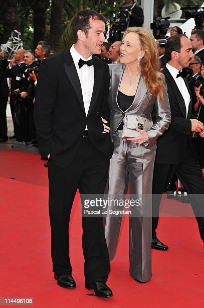 "Faye Dunaway and Liam O'Neill attend the ""Les Bien-Aimes"" premiere at the Palais des Festivals during the 64th Cannes Film Festival on May 22, 2011..."
