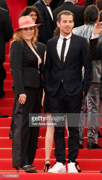 "Faye Dunaway and Liam O'Neill attends ""The Beaver"" Premiere during the 64th Cannes Film Festival at the Palais des Festivals on May 17, 2011 in..."