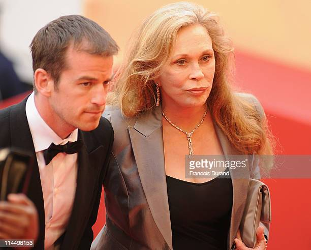 "Faye Dunaway and Liam O'Neill attends the ""Les Bien-Aimes"" premiere at the Palais des Festivals during the 64th Cannes Film Festival on May 22, 2011..."