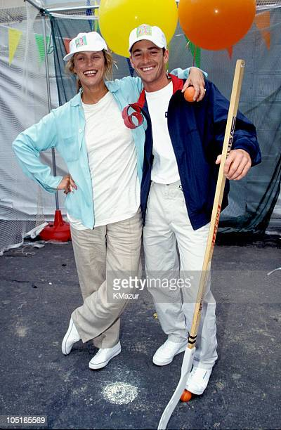 Faye Dunaway and Luke Perry during Elizabeth Glasser Pediatric Aids Foundation in New York City New York United States
