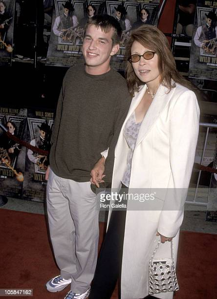 "Faye Dunaway and Son Liam O'Neill during ""Wild Wild West"" Los Angeles Premiere at Mann Village Theatre in Westwood, California, United States."