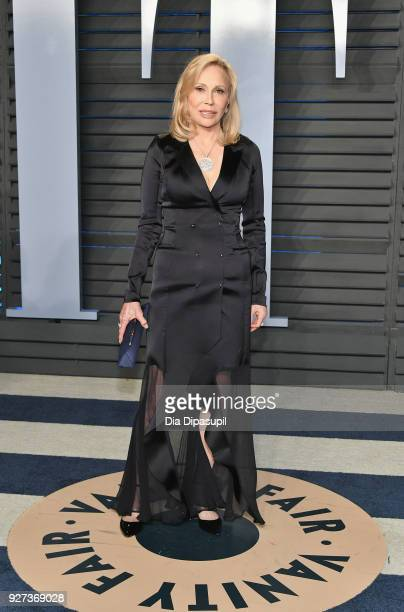 Faye Dunaway attends the 2018 Vanity Fair Oscar Party hosted by Radhika Jones at Wallis Annenberg Center for the Performing Arts on March 4 2018 in...