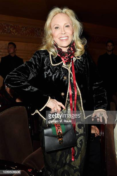 Faye Dunaway attends the Gucci show during Paris Fashion Week Spring/Summer 2019 on September 24 2018 in Paris France