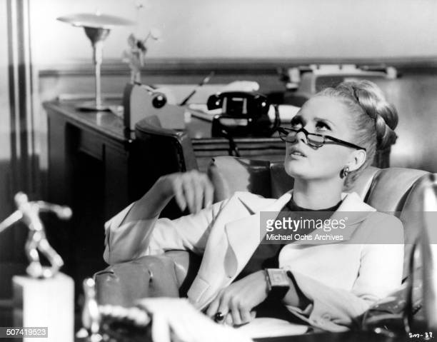 Faye Dunaway looks on in a scene from the movie 'The Thomas Crown Affair' circa 1968