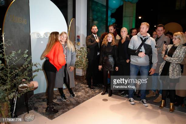 Faye Montana and her mother Anne-Sophie Briest during the Douglas Store Opening at Unter den Linden on October 30, 2019 in Berlin, Germany.