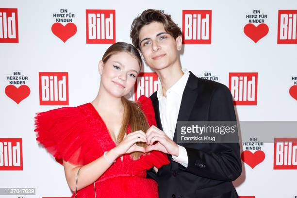 Faye Montana and Lukas Rieger during the Ein Herz Fuer Kinder Gala at Studio Berlin Adlershof on December 7 2019 in Berlin Germany