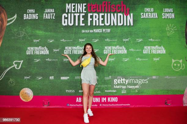 Faye Montana attend the 'Meine teuflisch gute Freundin' Premiere at Cinemaxx on June 28 2018 in Berlin Germany