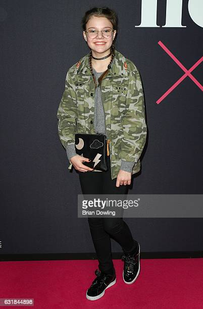 Faye Montana attends the Maybelline Hot Trendsxhbition 2017 show during the MercedesBenz Fashion Week Berlin A/W 2017 at Motorenwerk on January 16...