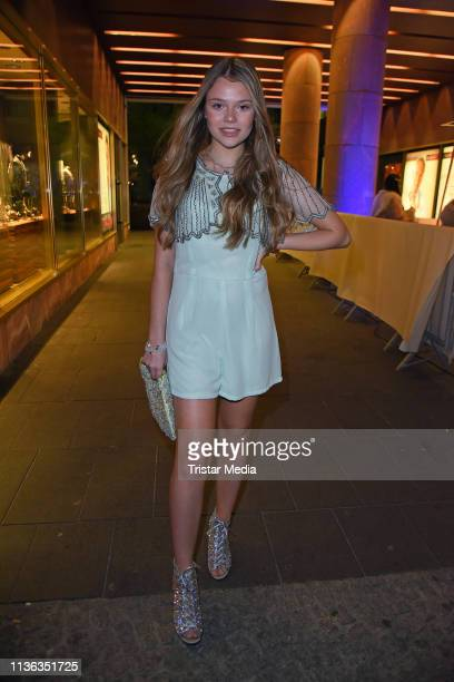 """Faye Montana attends the Shirin David birthday party """"Iced Out"""" on April 11, 2019 in Berlin, Germany."""