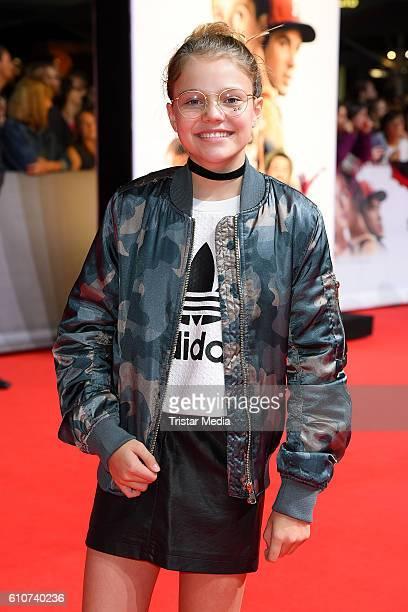 Faye Montana attends the 'Unsere Zeit ist jetzt' World Premiere at CineStar on September 27, 2016 in Berlin, Germany.
