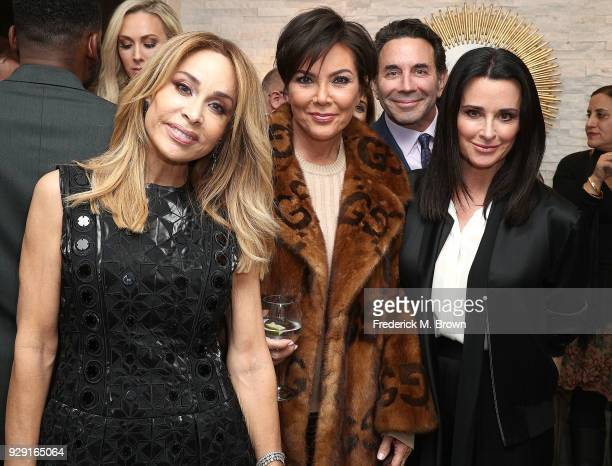 Faye Resnick Kris Jenner Dr Paul Nassif and Kyle Richards arrive for Dr Paul Nassif unveils his new medical spa with grand opening and ribbon cutting...