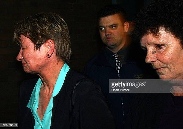 Faye sister of Bill Absolum and Diane Johnson sister of Wayne Johnson walk out of the Auckland High Court after William Bell 24 was found guilty of...